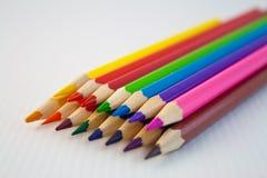 53 befläckte blyertspennor Arkivbild