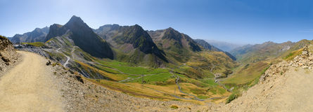 53 Mpx mountain panorama, col du Tourmalet Royalty Free Stock Images