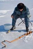 54钓鱼的冬天 免版税库存图片