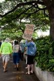 54 anty apec Honolulu zajmuje protest Zdjęcia Royalty Free