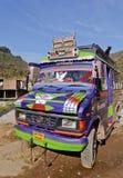 5401 färgrik ff för buss indisk nordlig passagerare rf Arkivbilder