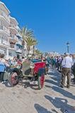 54th Samla Barcelona-Sitges understöder arrangerar gradvis racen. Royaltyfria Bilder