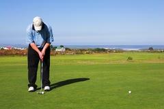 55高尔夫球运动员 库存照片