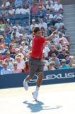 55 2008 Roger Federer pan nas otwarte Obraz Stock