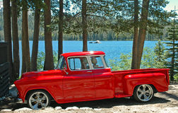 55 chevy pickup rockin Obrazy Stock