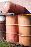 55 gallon drums Royalty Free Stock Photos