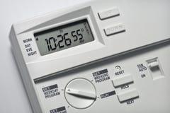 55 grader värmer upp termostaten Royaltyfria Foton