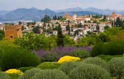 55 - horizon de Grenade alhambra d'alcazba Images libres de droits