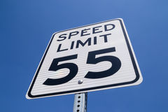55 Mile Per Hour Sign. Stock Images