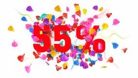 55 por cento fora Imagem de Stock Royalty Free