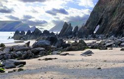 Free 55° Rock Formations At Marloes In Pembrokeshire Royalty Free Stock Photography - 160547047