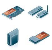 55k计算机设计要素被设置的硬件图标 皇族释放例证