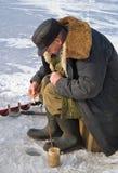 56钓鱼的冬天 免版税图库摄影