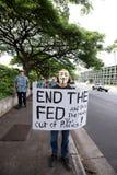 56 anti apec honolulu занимает протест Стоковые Фото