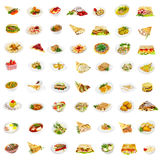 56 dishes Royalty Free Stock Image