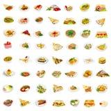 56 pratos Imagem de Stock Royalty Free