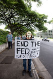 56 upptar anti apec honolulu protest Arkivfoton