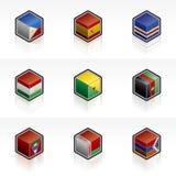 56r εικονίδια σημαιών στοιχείων σχεδίου που τίθενται Στοκ Εικόνα