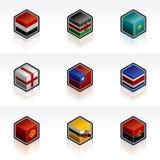 56s τα στοιχεία σχεδίου σημαιοστολίζουν τα εικονίδια που τίθενται Στοκ Εικόνες