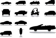 57 εικονίδια αυτοκινήτων π& Στοκ Εικόνες