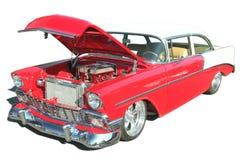 57 chev gorące odosobnione samochodów kij Zdjęcia Royalty Free