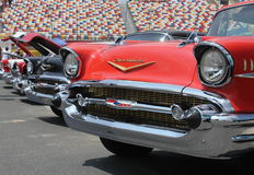 57 Chevy Row of Classic Cars Royalty Free Stock Photo