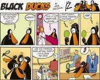 57 czarny komiczek kaczek epizod Zdjęcia Royalty Free