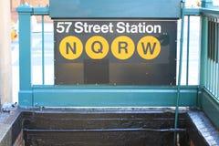 57th Estação do metro da rua Imagem de Stock