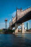 57th street bridge to Queens. Over river Royalty Free Stock Images