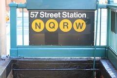 57th Street Subway Station Stock Image