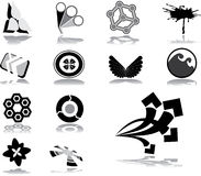59. Logos and business brands. Set icons - 59. Logos and business brands. Set of 13 vector icons for web royalty free illustration