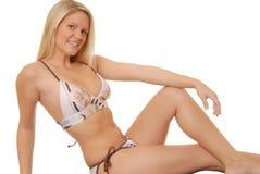 592 blondynką seksowna dziewczyna Obrazy Royalty Free