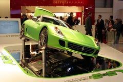 599 Ferrari 2010 przedstawienie hybrydowych motorowych Geneva Obraz Royalty Free