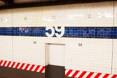 59th Estação do metro da rua, NYC Fotos de Stock