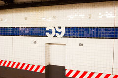 59th Street Subway Station, NYC Stock Photos
