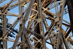 59th Vigas de ponte da rua Fotografia de Stock Royalty Free