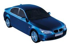 5个蓝色bmw系列 免版税库存图片