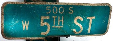5de straatsignage Royalty-vrije Stock Fotografie