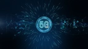 Free 5G Connectivity Of Digital Data And Conceptual Futuristic Information Technology Using Artificial Intelligence AI Stock Photography - 156892202