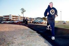 5k海军海军修建营成员 图库摄影