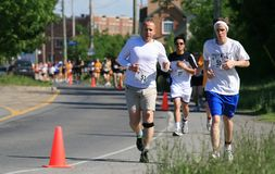 5k το τρέξιμο Στοκ εικόνα με δικαίωμα ελεύθερης χρήσης