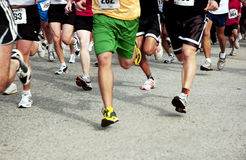 5k. The start of a 5k race Stock Image