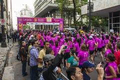 5k McDonalds - São Paulo - Brésil Images libres de droits