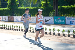 5km avslutande maratondeltagare Royaltyfri Foto