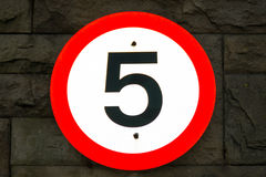 5mph (5 Miles Per Hour) Road Sign Royalty Free Stock Image