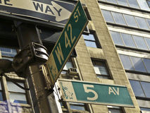 5th Avenue and 42nd Street Royalty Free Stock Photos