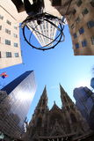 5th Avenue. View of St. Paul's Cathedral on 5th Avenue Royalty Free Stock Images