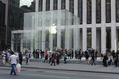 5th Avenue Apple Store In Manhattan Royalty Free Stock Image
