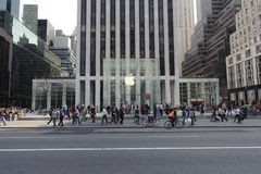5th Avenue Apple Store In Manhattan Royalty Free Stock Photography