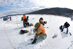The 5th Baikal Fishing Stock Images